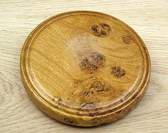 Burr Oak Display Dish, Wooden, Wood Turned, Jewellery Dish, Key Dish, Housewarming, Moving In, Gift, Present, Rustic Homeware