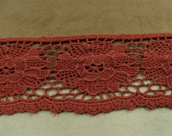 LACE in Ribbon-5, 5 cm - Burgundy