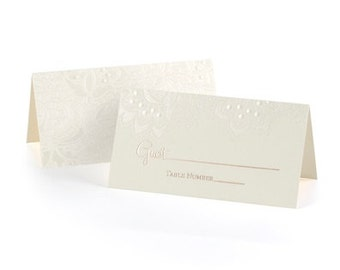 Ivory Shimmer Fill In Place Cards (Pack of 25)