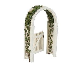 Miniature Garden - Gated Arbor with Vine - Miniature Fairy Garden Supplies