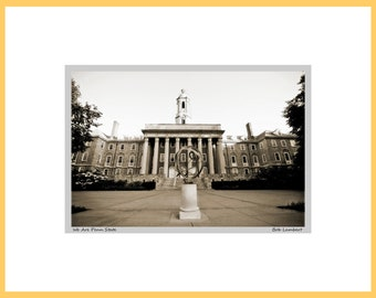 Old Main photo at Penn State, State College, PA - Hand Signed and Titled (11x14 matted photograph)