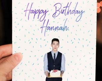 Personalised Jay Park K-Pop Birthday Card