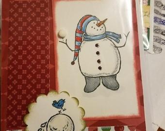 Handmade Christmas/Winter Card