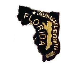 FLORIDA State vintage lapel  enamel pin Talahassee