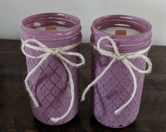 Raspberry Sangria Scented Candles. Mason Jar Candles Wood Wick Candle. Hand Poured Candle. 16 oz Mason Jar Candle Set, Soy Mason Jar Candle