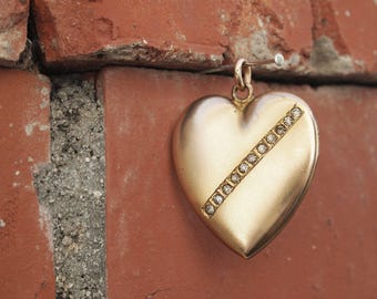 Heart Locket Large Gold Bridal Jewelry Gold Filled