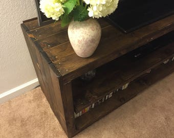 Rustic Media Stand