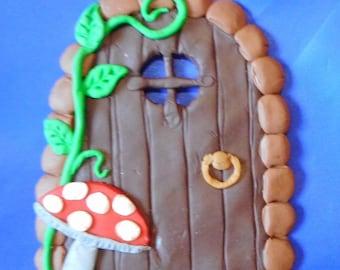 fairy door with toadstool design