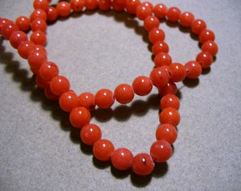 Jade Beads Gemstone Red Round 6mm