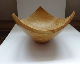 Triangular Three sided Larch bowl