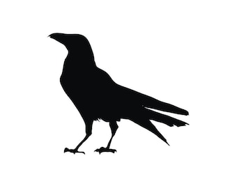 Black Bird silhouette vinyl decal sticker raven crow birds goth