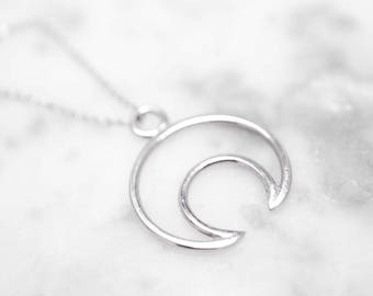 Crescent Moon Necklace | Moon Necklace | Silver Moon Necklace | Moon Phase Necklace | Mother's Day Gift