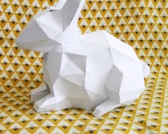 rabbit paper to mount