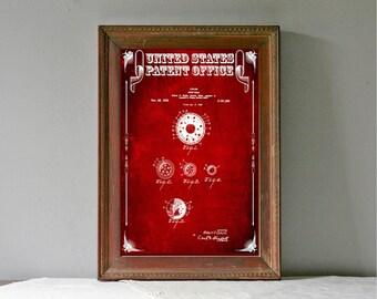 Golf Ball Patent – Patent Print, Wall Decor, Golf Art, Golfer Gift, Golfing Print, Golf Players
