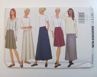 Butterick 6717 Misses or Petite Modest Skirt in 2 Lengths Sewing Pattern Plus Size 18-20-22 2000