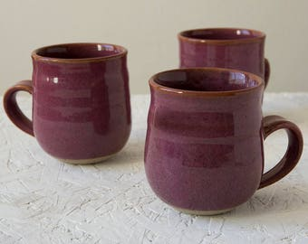 Home Gifts, Rustic Gift, Breakfast Mug, Gifts for Hostess, Ceramic Gift, Pottery Coffee Mug, Hot Chocolate Mug, Purple Mug, Ceramic Mug