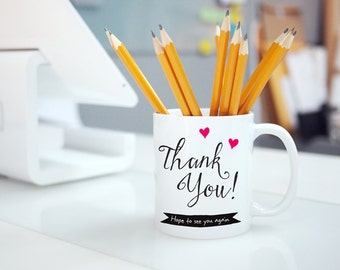 THANK YOU Mug for Stores, Restaurants, Office.