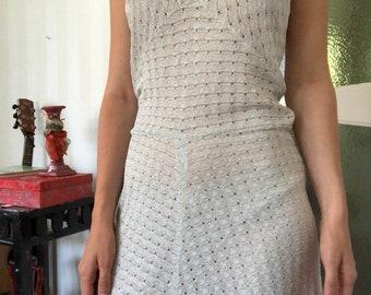 Glitter halter neck dress