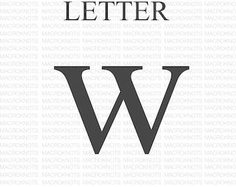 Macrame Letter W