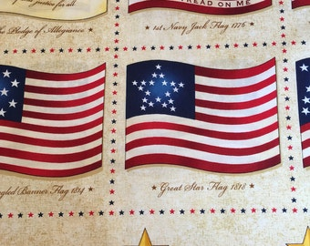 Long May She Wave by Quilting Treasures