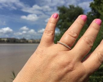 silver ring wedding band stacking ring ring ring Pearl ring silver ring wedding ring symbol Sterling statement ring