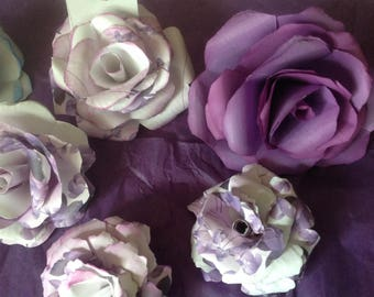 Paper Roses 10 included for Gift Toppers, Placecards, or Cupcake Toppers