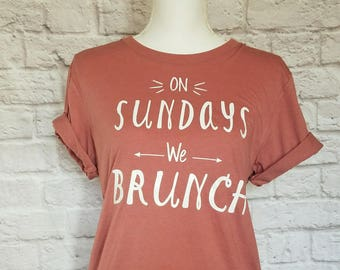 Brunch Shirt | tshirt | t-shirt | Graphic Tee | Girls Weekend | Tumblr | Foodie Gift | Pink | Squad | Mimosa | White | Gift for Her | Cute