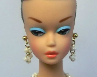 """Handmade 1/6 12"""" inch Fashion doll Pearl jewelry set  for Barbie, Reproduction, Silkstone and Fashion Royalty NE100071"""