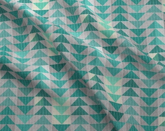 Quilt Fabric - Tribal Quilt (In Turquoise) By Nouveau_Bohemian - Quilt Cotton Fabric By The Yard With Spoonflower