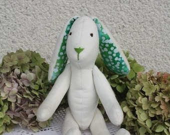 Handmade bunny rabbit doll ,cute soft Easter bunny ,rabbit softie ,plush bunny , rabbit toy,gift for baby, lapin