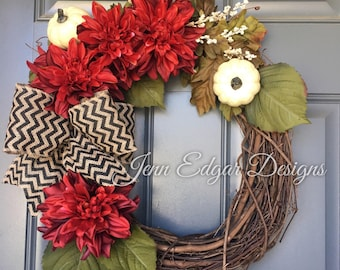 Fall wreath, fall wreaths for front door, fall wreath for door, fall wreaths, door wreath, autumn wreath for door
