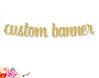 Custom Banner | Personalized Banner | Party Banner | Birthday Banner | Custom Gold Banner | Name Banner | Wedding Banner | Bridal Shower