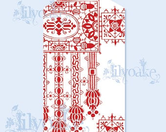 Swedish Folk Pattern Tags
