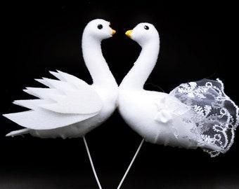 Swan Cake Topper Wedding Cake Topper Bird Cake Topper Dove Cake Topper Artificial Wedding Swans Wedding Birds Cake Topper Birds