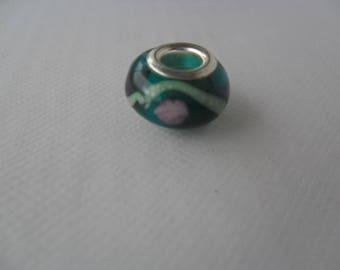 Pearl Charm, 14 mm, green