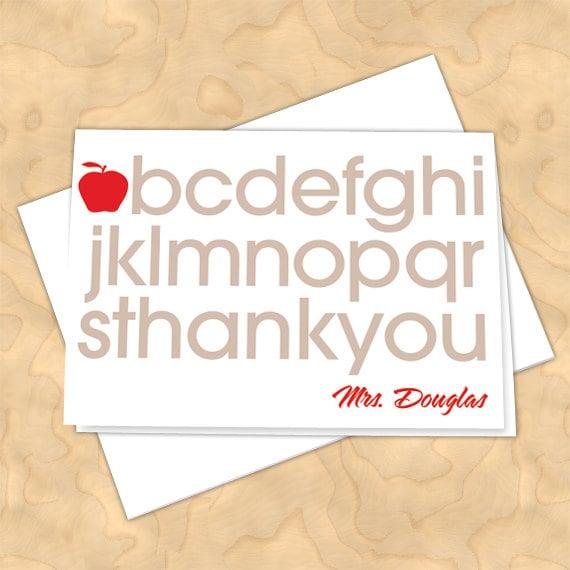 personalized notecards, thank you cards, teacher thank you cards, graduation thank you cards, 4x6 notecards, teacher appreciation, NC120
