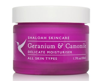Geranium & Chamomile Delicate Moisturiser | Senstive Skin Cream | Calming Moisturiser | Rosacea Cream | Acne Cream