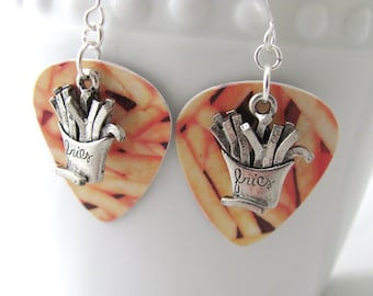 French Fry Earrings Fries Earrings Guitar Pick Earrings McDonald's Earrings Gift Card Gift Ideas for Foodies Gift Ideas for Girlfriends