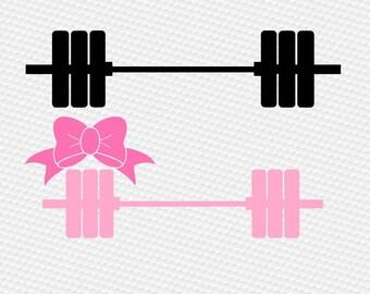 Crossfit wights svg, Barbell svg, Gym svg, Fitness svg, Workout svg, Girl svg, Monogram barbell svg, Cricut, Cameo, Svg, DXF, Png, Pdf, Eps