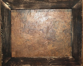 "1-1/2"" Black Distressed Picture Frame"