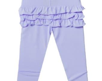 Ruffle Bum Leggings Baby and toddler ruffle bum pants - lavender light purple lilac violet