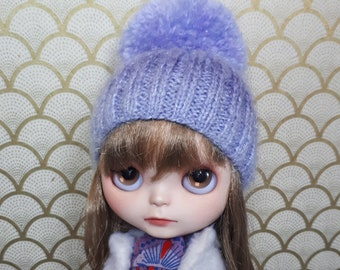 Multicolor Ombre Mohair Blythe Hat | Pompom Hat