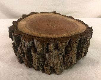 "7.5-9""diameter x 4"" height Black Walnut Log rough cut as is."
