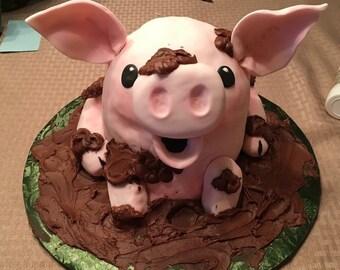 Pig Cake Topper Etsy