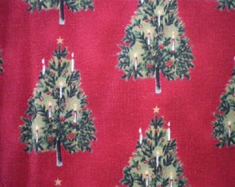 Christmas trees red ref SAPINSN patchwork fabric
