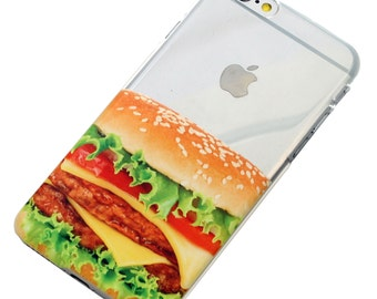 Last One, 2 Piece, Cheeseburger Phone Case, iPhone Case, Transparent, Clear Phone Case, Last 2 Piece Case,