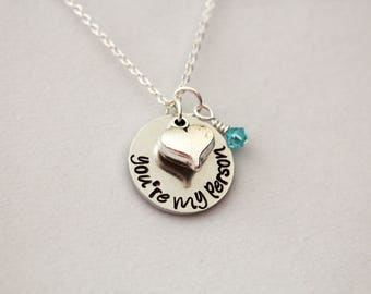 Grey's Anatomy You're My Person Hand-Stamped Necklace