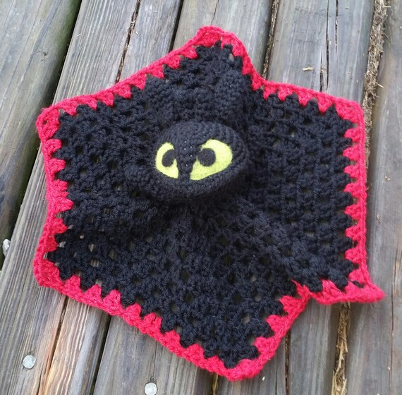 Toothless How Train Your Dragon Crochet Lovey Doll Blanket