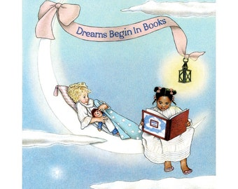 Dreams Begin in Books 8x10 Print