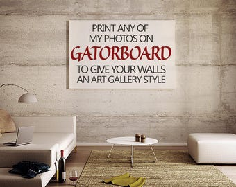 Gatorboard Art Print, choose any print in my shop and print it on Gatorboard
